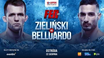 Były zawodnik UFC rywalem Zielińskiego na FEN 29