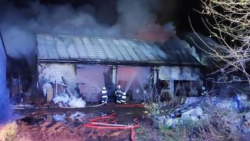Pożar gospodarstwa w Łódzkiem. Właściciel zmarł w wyniku stresu