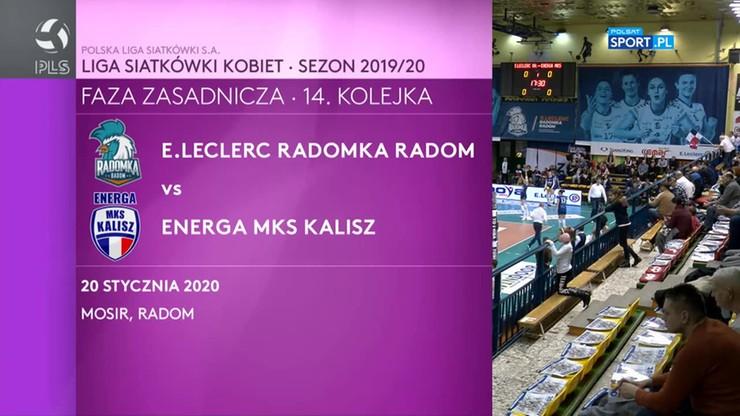 E. Leclerc Radomka Radom - Energa MKS Kalisz 0:3. Skrót meczu