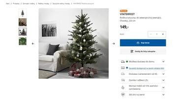 """""""Zimowa impreza"""" zamiast Bożego Narodzenia w Ikei. Choinka nazywa się teraz """"rośliną sztuczną"""""""