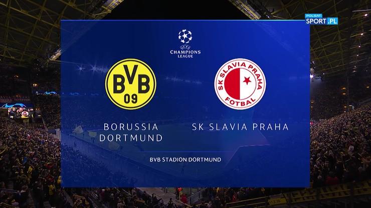 Borussia Dortmund - Slavia Praga 2:1. Skrót meczu