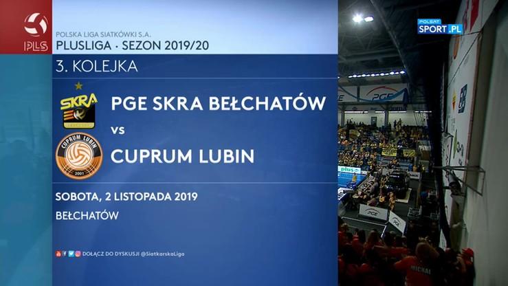 PGE Skra Bełchatów - Cuprum Lubin 2:3. Skrót meczu