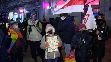 """Manifestacja """"Solidarni z Białorusią"""". Interweniowała policja"""