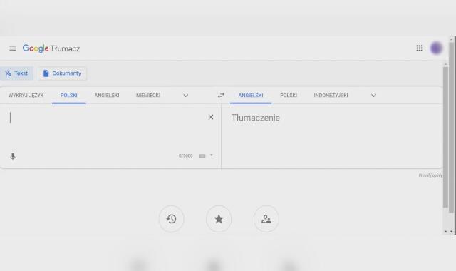 """Tłumaczenie fraz """"Duda szkodzi"""" i """"Trzaskowski szkodzi"""" przez Tłumacza Google"""