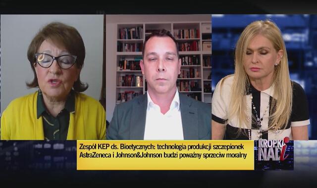 Cholewińska-Szymańska o stanowisku episkopatu na temat dwóch szczepionek: w naszym kraju wprowadzi duży ferment